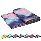 Yoga Towels , Non Slip Hot Yoga Towel Skidless Waffle Texture, 100% Absorbent Odorless Microfiber Yoga Blanket, Standard Sized 24 inchx72 inch Mat Towel,for Hot Yoga, Bikram, Pilates