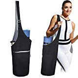 "PACEARTH Yoga Mat Bag, 40"" x15 Large Size Yoga Mat Carrier,Reversible Two-Tone Yoga Mat Tote-Fits Most Size Mats"